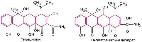 Формула тетрациклиновых соединений